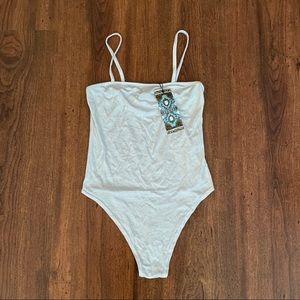 White Boohoo Bodysuit - Size 2